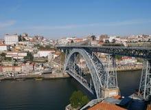 Douro flod i Porto Arkivfoton