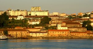 Douro flodsikt i Porto royaltyfri foto