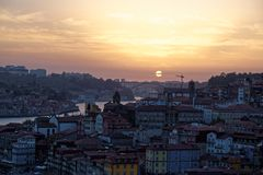 Douro river and Porto Stock Photography