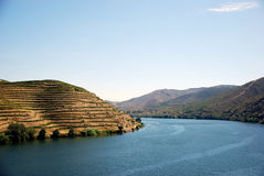 Douro River. The Douro is one of the major rivers of the Iberian Peninsula, with a total length of 897 km Stock Photos