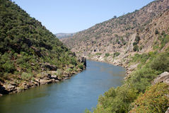 Douro River. The Douro is one of the major rivers of the Iberian Peninsula, with a total length of 897 km Stock Image