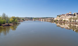 Douro river channel Royalty Free Stock Image