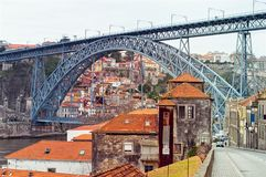 Douro River and the Dom Luis I Bridge in Porto, Portugal. UNESCO Stock Images