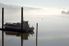 Douro river in the morning mist Stock Photo