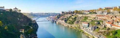 Douro river panorama Porto, Portugal stock photography