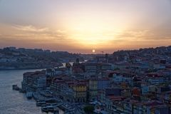 Douro river and Porto Royalty Free Stock Photo