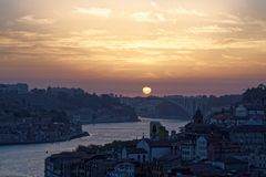 Douro river and Porto Stock Photo
