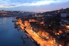 Douro river and Porto. Porto  in the morning, Portugal Stock Photos