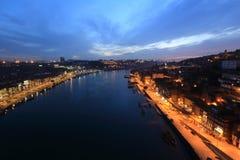 Douro river and Porto. Porto  in the morning, Portugal Stock Images
