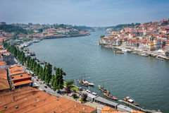 Douro river in Porto, Portugal. Cityscape. Royalty Free Stock Images