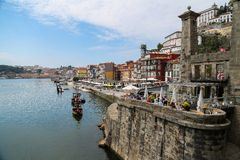 Douro river in Porto, Portugal Royalty Free Stock Photos