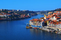 Douro River, Porto, Portugal. The Douro River in historic city of Porto, Portugal royalty free stock photo