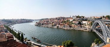 Douro river in Porto, Portugal Stock Photos