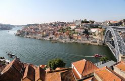 Douro river in Porto, Portugal Stock Image