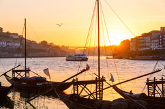 Douro river in Porto Royalty Free Stock Photos