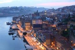 Douro river and Porto. Vief of Douro river and Porto Stock Images