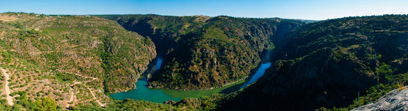 Douro river between Portugal and  Spain Stock Photo