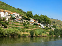 Douro River in Regua, Portugal Royalty Free Stock Photography
