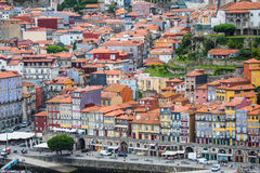 Porto, Portugal - July 2017. The Douro River and the Ribeira District which is the most famous part of Porto Stock Images