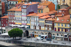Porto, Portugal - July 2017. The Douro River and the Ribeira District which is the most famous part of Porto Royalty Free Stock Photo