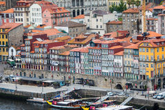 Porto, Portugal - July 2017. The Douro River and the Ribeira District which is the most famous part of Porto Stock Image