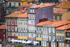 Porto, Portugal - July 2017. The Douro River and the Ribeira District which is the most famous part of Porto Stock Photography
