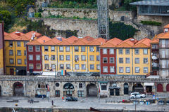 Porto, Portugal - July 2017. The Douro River and the Ribeira District which is the most famous part of Porto Stock Photo