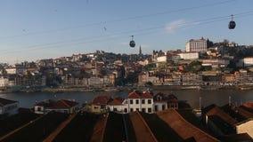 Douro river and Ribeira, Porto, Portugal. Travel. stock video