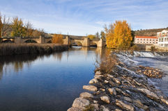 Douro river at Soria (Spain) Stock Photo