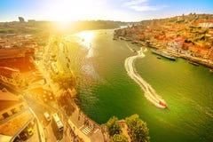 Douro River at sunset royalty free stock photos
