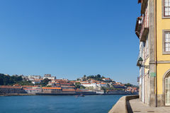 Douro river and a tourist boat in Porto Royalty Free Stock Image