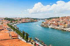 Douro river. And traditional boats in Porto, Portugal royalty free stock photo