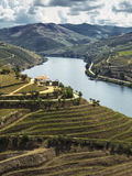 Douro river valley. And clouds Stock Photos