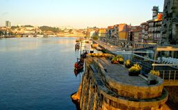 Douro River view in Porto stock photo