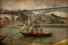 Douro River, Vintage image Stock Photo