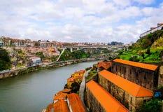 Free Douro River With Porto And Vila Nova De Gaia Cities Top View Royalty Free Stock Images - 132539349