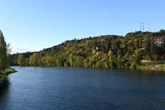 Douro rzeka blisko Mirandela, Obrazy Royalty Free