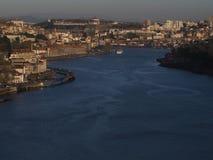 Douro rzeka i Porto widok Zdjęcia Royalty Free