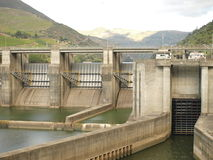 Douro Valley hydroelectric dam. Royalty Free Stock Photo