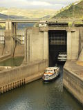 Douro Valley hydroelectric dam. Stock Image