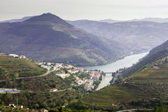 Douro Valley - Pinhão Vilage Stock Photos