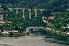 Douro Valley - Town Oliveira do. Douro. Portugal's port wine region. Point of interest in Portugal stock photo