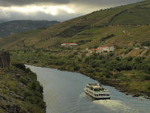 Douro Valley turistic boat trip. Stock Photos