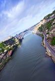 dourooporto portugal flod Royaltyfri Bild