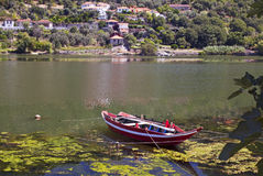 Douros Boat. Traditional boat at Porto de Rei in the Douro river, Portugal Royalty Free Stock Images
