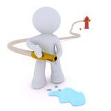 dousing vatten för pöl för hydrant för brandslang Arkivfoton