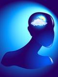Doutes nuageux Images libres de droits