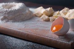 Douth, nourriture, faisant cuire le concept - préparant le douth - cuisson des progres Photographie stock libre de droits
