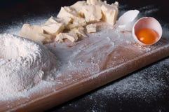 Douth, nourriture, faisant cuire le concept - préparant le douth - cuisson des progres Photo libre de droits