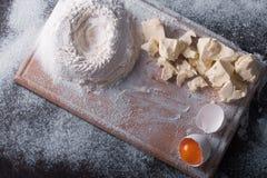 Douth, nourriture, faisant cuire le concept - préparant le douth - cuisson des progres Image libre de droits